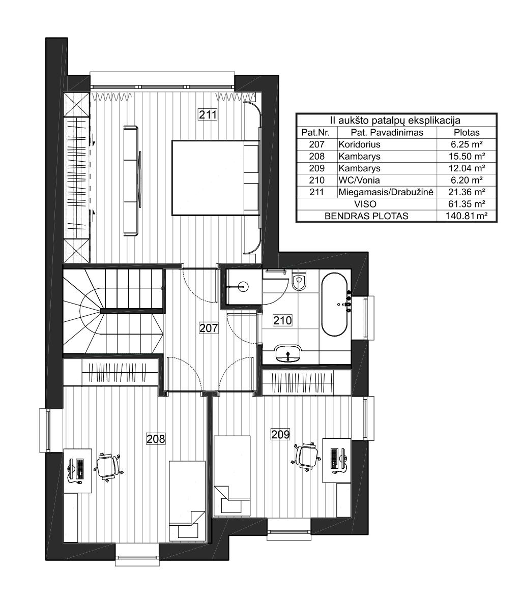 Vienbutis namas su garažu 70